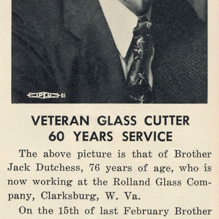 """Photo taken from the monthly """"Glass Cutter"""" newspaper."""