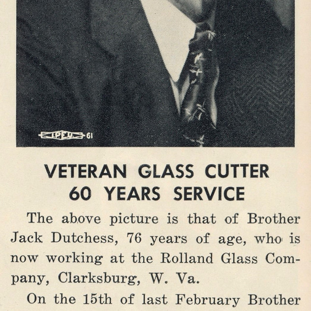 "Photo taken from the monthly ""Glass Cutter"" newspaper."