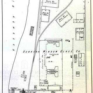 Dunkirk Window Glass Sanborn map 1913.  1906-24