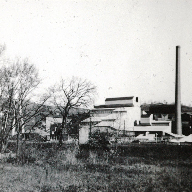 A view of PPG from the west side of Elk Creek in 1950.