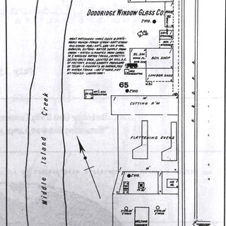 Sanborn map of Doddridge Window Glass