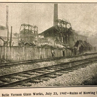 Ruins of newly applied modern blowing machines in 1907.
