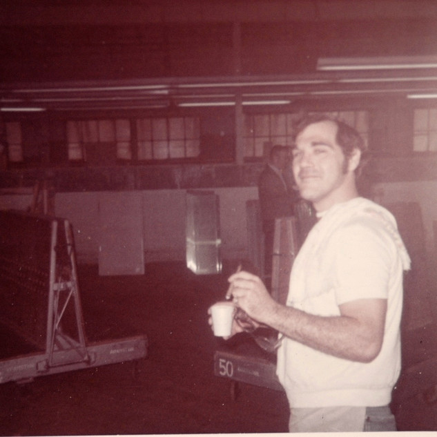 Young heavy cutter in the last days of Adamston Flat, name unknown 1975.