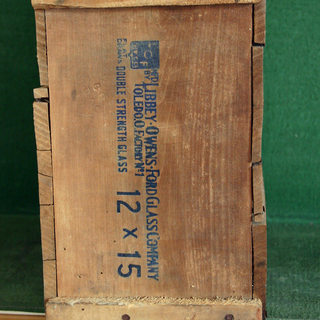 Typical box used for transporting window glass.