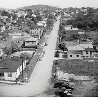 Lookin east on Willaims Ave from batch towers 1945.