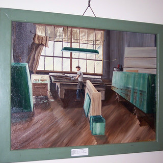 Painting done by Thomas Phillipp, art apprentice.