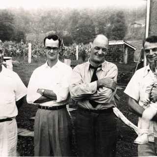 Jules Quertinmont left, in Buchannon WV