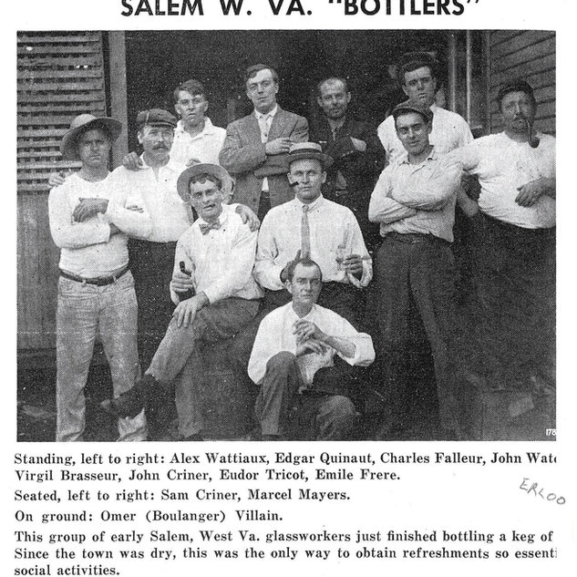 Salem window glass workers also loved their glass bottles.  Salem ironically, was a dry town in those days.