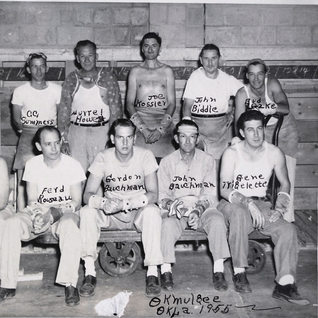 Group of cutters at Okmulgee in 1955.