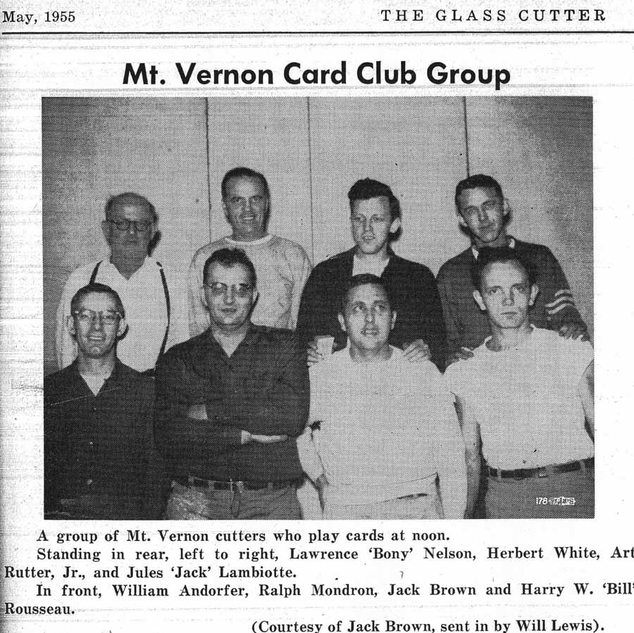 Cutters from PPG Mt. Vernon in 1956.