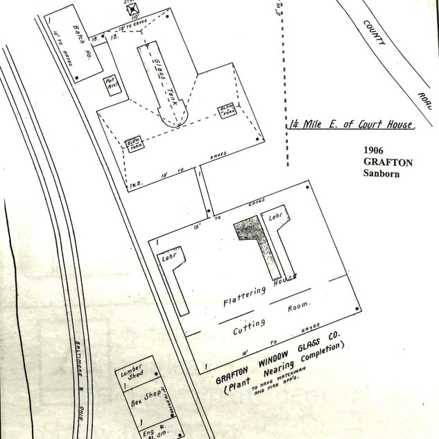 Grafton Window Glass 1906 Sanborn map
