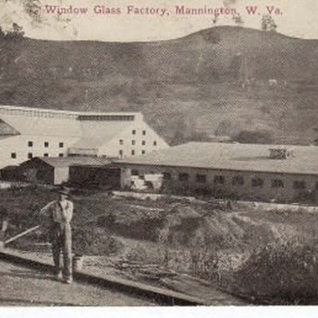 Early photo of the Mannington plant.
