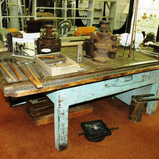 This cutting table from Rollan Glass, Clarksburg