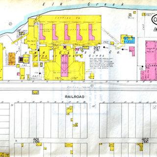 1916 Sanborn fire nsurance map of Tuna Glass.