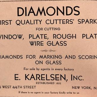 Diamond merchant of New York established 1852.