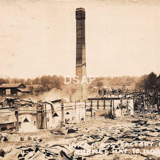 Vast destruction of the Utica, thus the fate of many of the old hand plants.