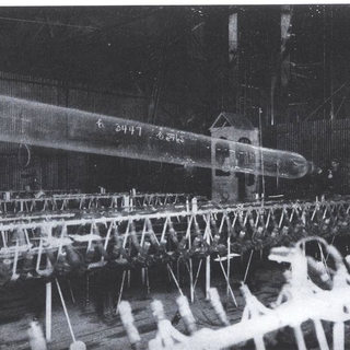 The Lubber system that used compress air to blow cylinders, photo 1919.