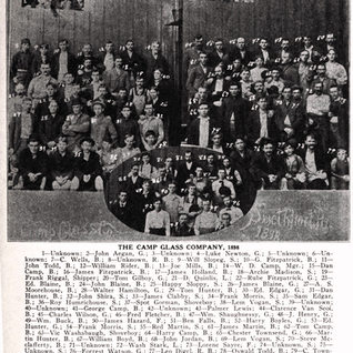 This photo shows men from the huge Camp