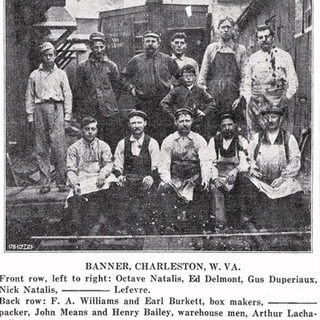 Banner Glass South Charleston WV.  Cutters in front row and other personnel behind.