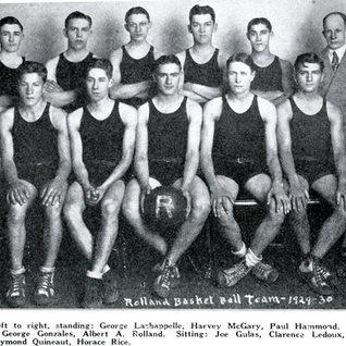 1929-30 Rolland basketball team.