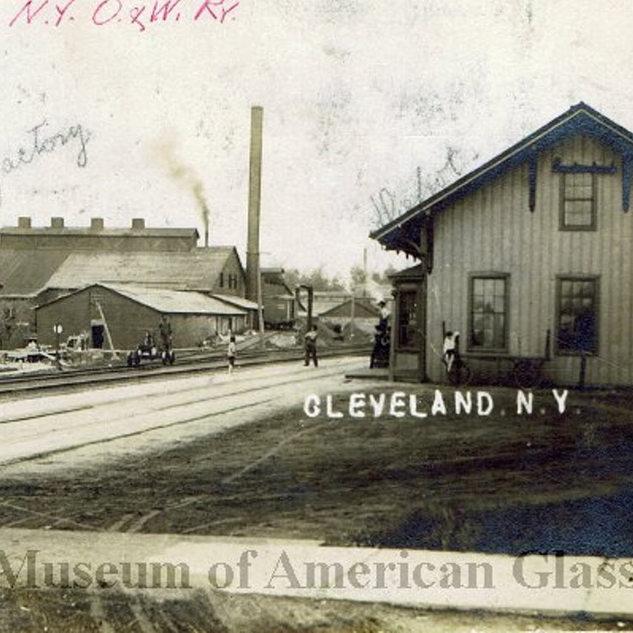 1910 postcard of depot