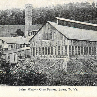 Very early photo of Salem WV, window glass company located in the western part of Harrison County.