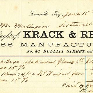 Louisville Kentucky invoice