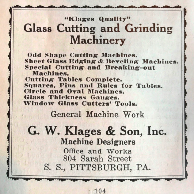 This last known address for G.W. Klages shop