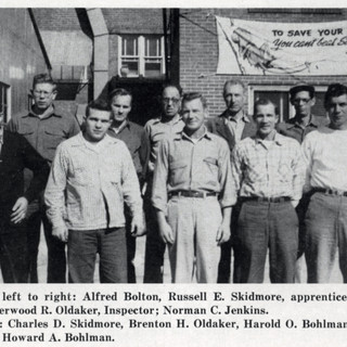 1956 photo of cutters at Adamston
