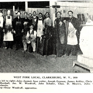 West Fork glass in Industrial in 1910.