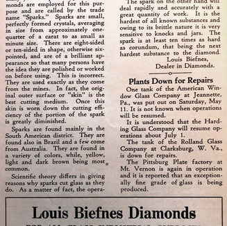 In 1929 Louis Biefnes of Clarksburg WV, offered this insight