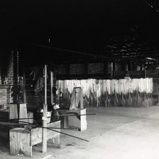 A stand of cylinders to be cut down