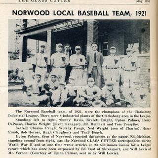 PPG baseball team in Norwood WV 1921