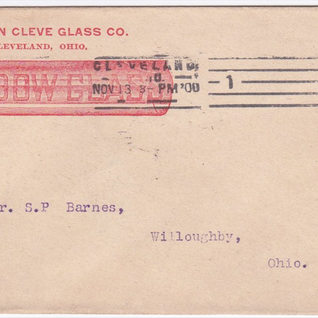 This post card from Cleveland Glass Co. was a jobber company and did not make window glass but imported it from many foreign and domesitcated factories.  It's interesting they used a blown cylinder ad their company symbol.