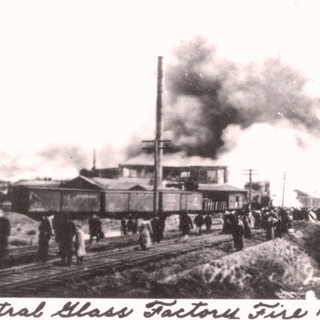The burning of the Central in 1912.  The plant never reopened. 1905-12.
