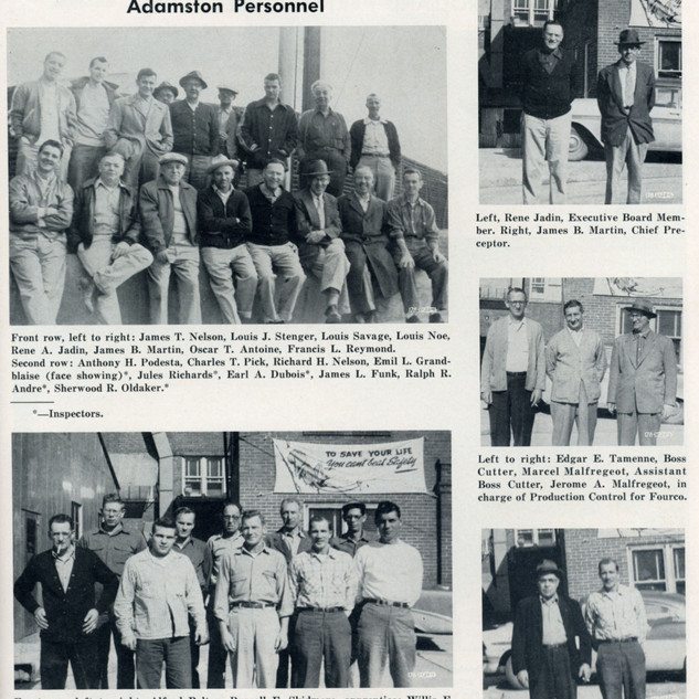 Overall collage of cutter photos 1956.