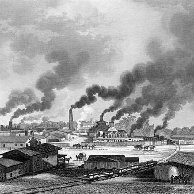 The Whitney Glass Works, Greensboro NJ 1876