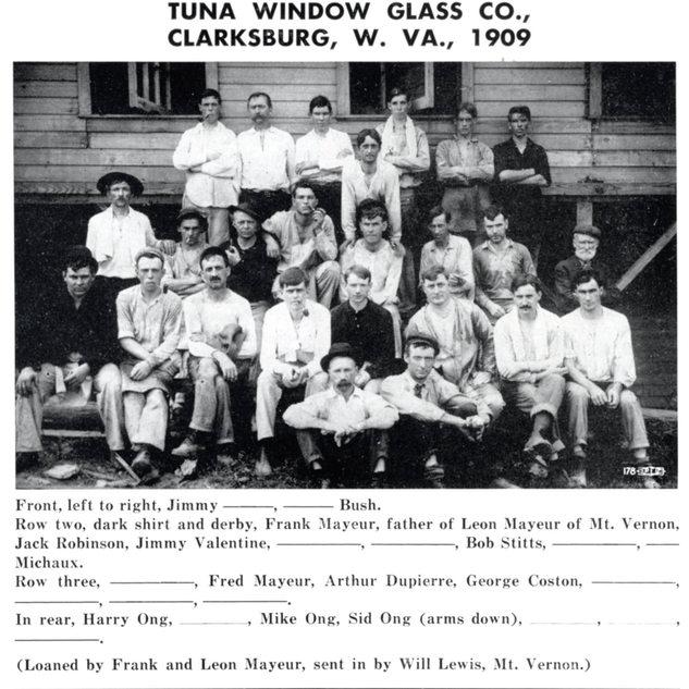 1909 Tuna Glass Cutters.