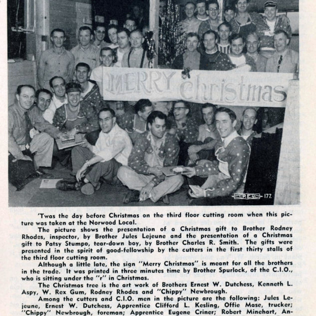 1951 Christmas celebration at PPG