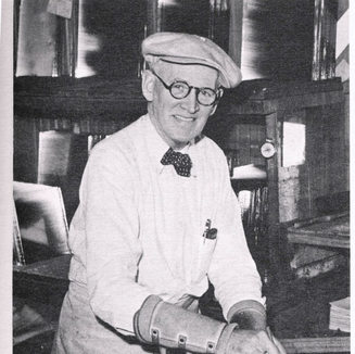 Carl E. Norcross one of the first cutters at Libby Owens Ford