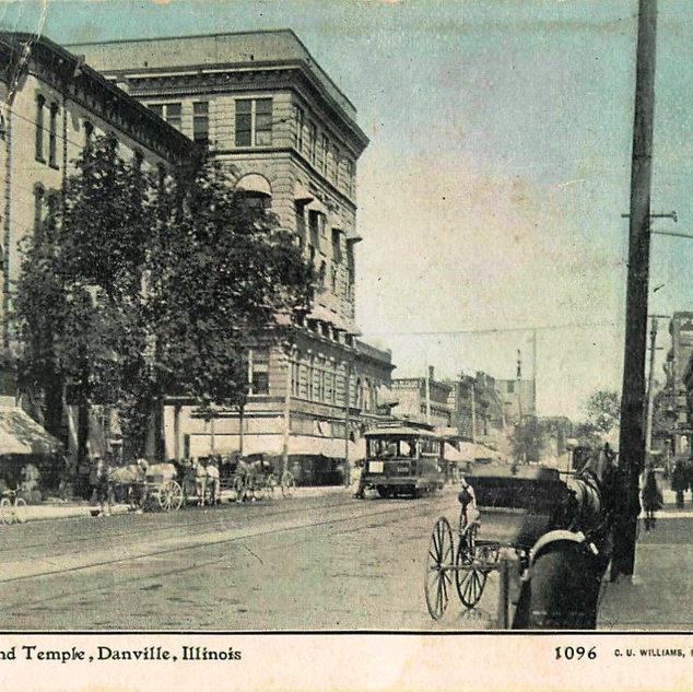 Postcard of Danville Illinois.
