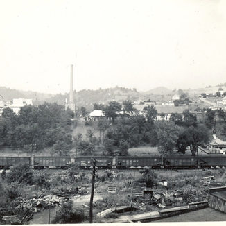 Looking from Adamston Glass to it's sister plant Rolland Glass and Ross into North View- 1960.