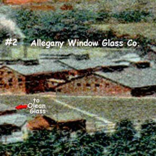 Close up of the Allegany Glass Co.