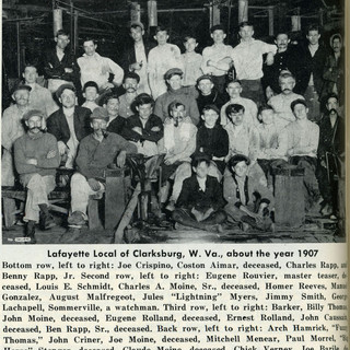 1907 names of blowing crew at the Lafayette.