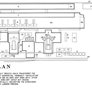 1930 drawing of the plant