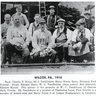 Cutters from the Wilcox Glass works 1914.