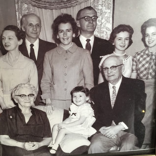 The Zabeau family originally from Sistersville WV.   Rene Zabeau and wife center and the daughters Barbara and Vickie.  All the men in this photo were glass cutters.