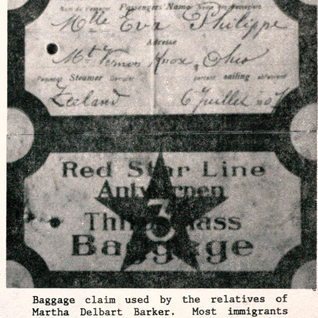 Many immigrants used the red or white star steamship line to come to the U.S. or revisit their former homes as my great grandfather, who went several times back to France.