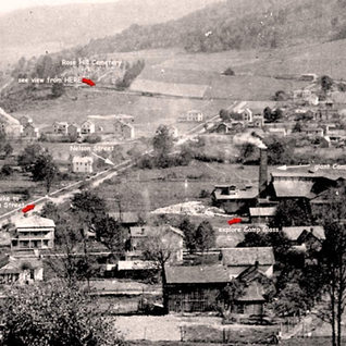 Some idea of the location of the giant Camp plant around 1910.