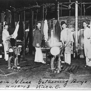 Gathering boys in Utica Ohio 1913.